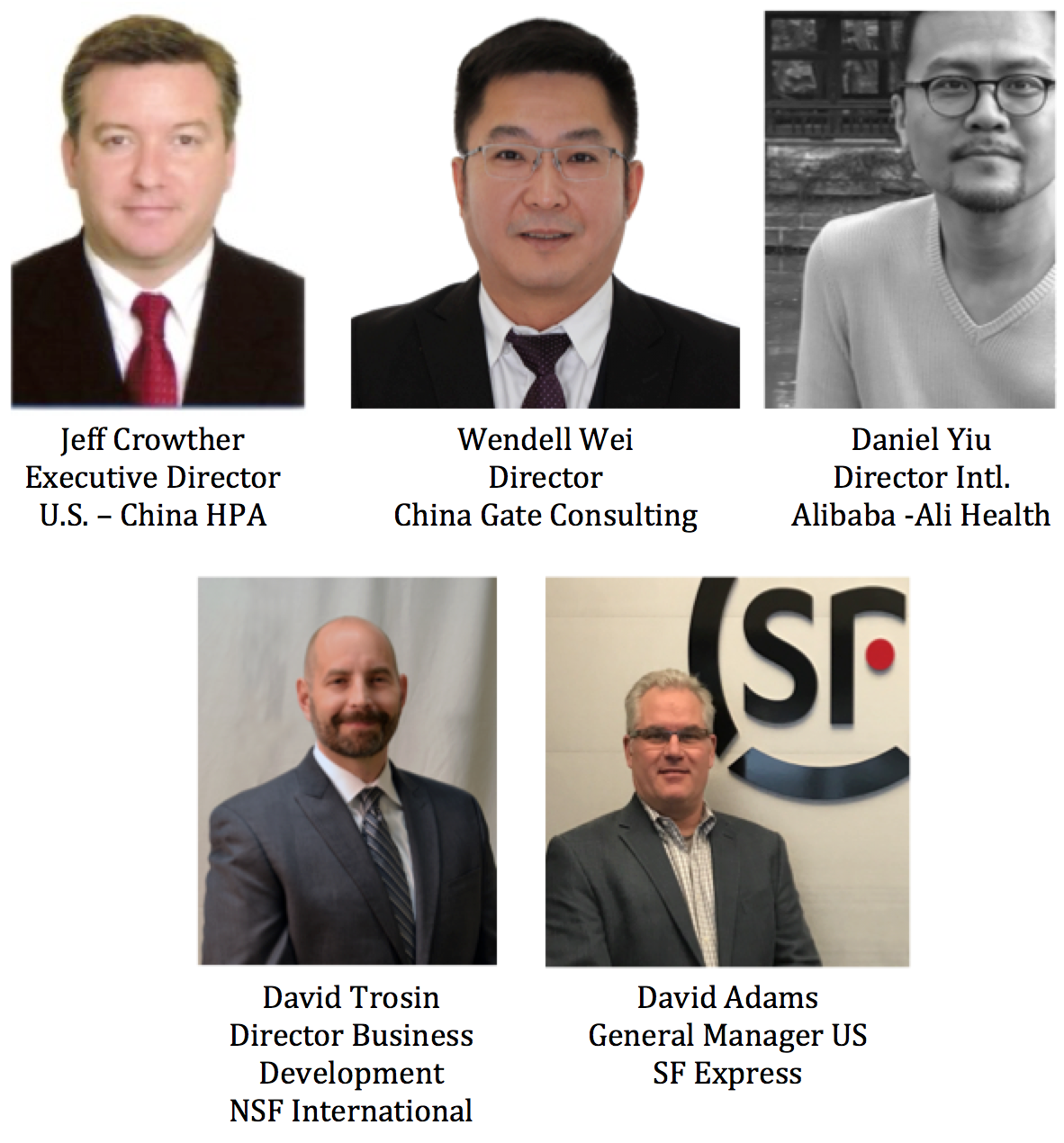 USCHPA China Seminar Speakers 2017